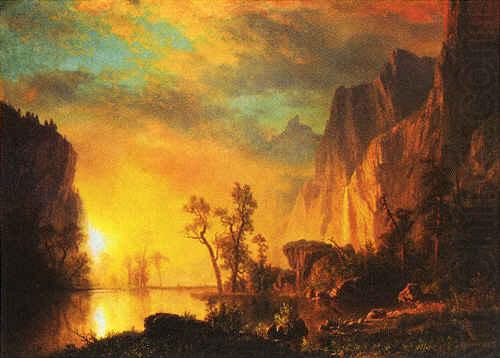 Sunset in the  Rockies, Albert Bierstadt